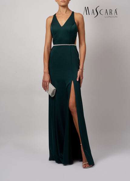 Mascara MC181458 Green Backless Dress