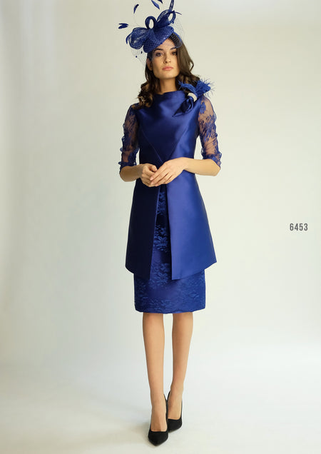 Lizabela Belle Navy Fit and Flare Dress 2911