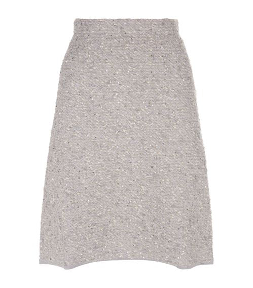 D.Exterior Tweed Skirt