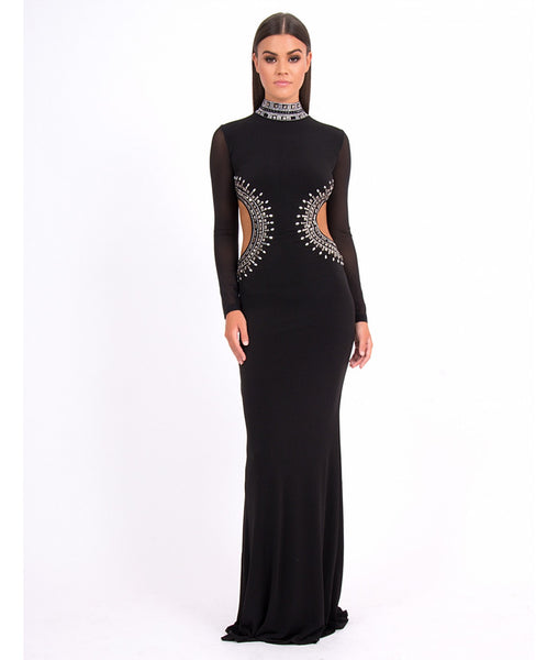 Forever Unique Lowri Long sleeve Evening Dress