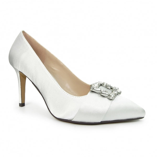 Lunar Shoes Sicily Satin Court Shoe