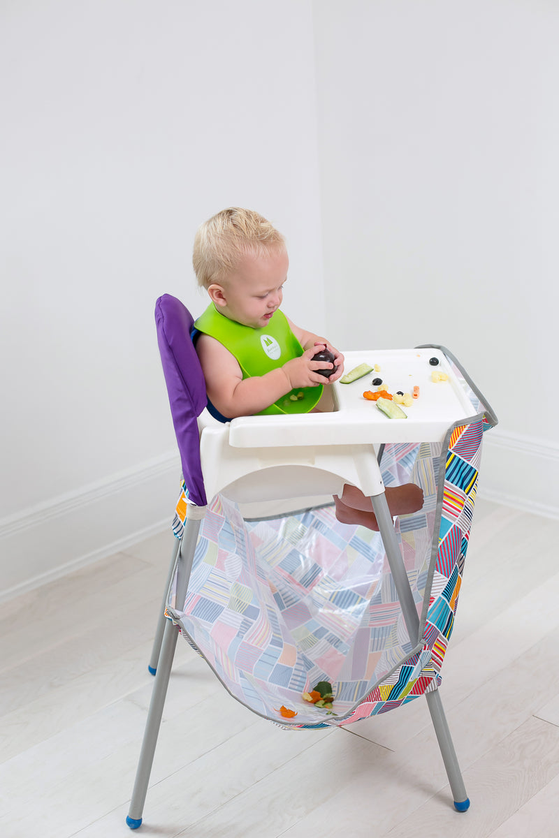 The high chair Food Catcher Contains the mess