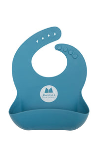 Silicone Catcher Bib Blue