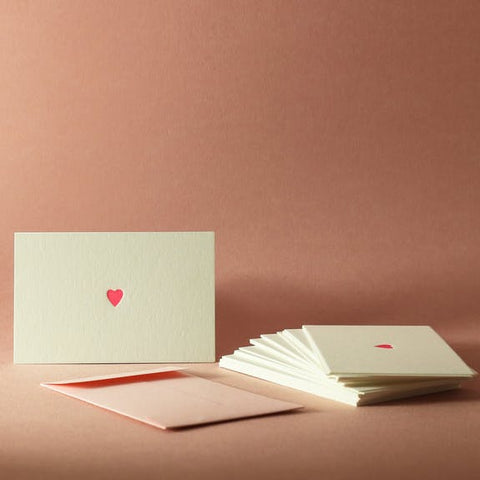 Mini Carte Letterpress - Coeur