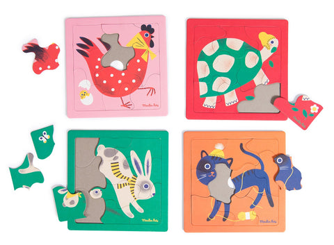 Puzzles animaux les Bambins