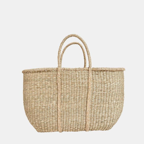 Big Caro Seagrass Basket - Grand sac en jonc de mer