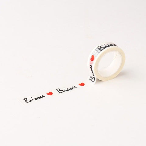 Masking tape scotch bisou - large