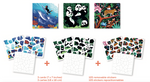 Puzzles & Stickers - Animaux sauvages