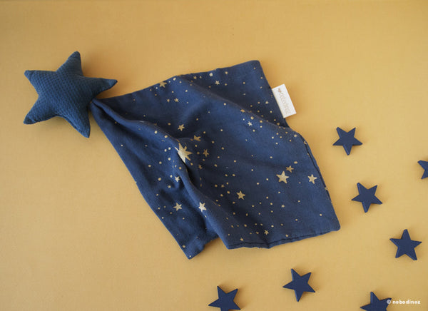 star doudou 30x30 gold stella / midnight blue