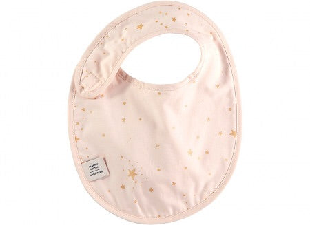 Bavoir candy  bib 34x25.5 gold stella/ dream pink