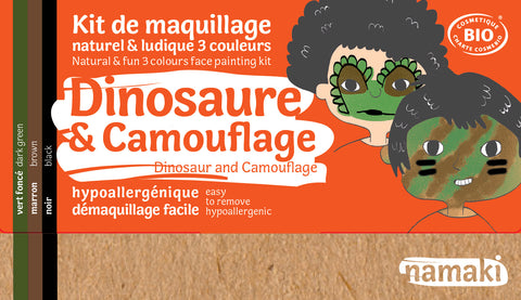 kit 3 couleurs dinosaure & camouflage