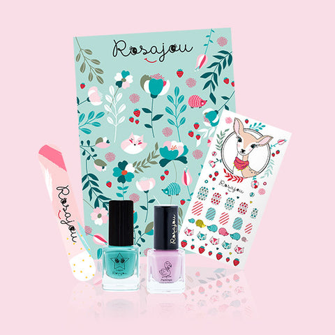 Kit jolis ongles Lagon flamingo