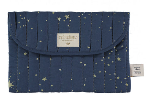 Pochette bagatelle pouch 19x27 gold bubble/ night blue