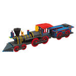 Construis la locomotive 3D