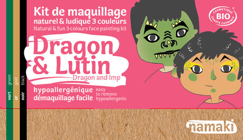 kit 3 couleurs dragons et lutins - maquillage