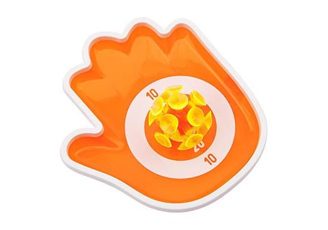 Raquettes et balles ventouse - Gimme 5 catch game néon orange