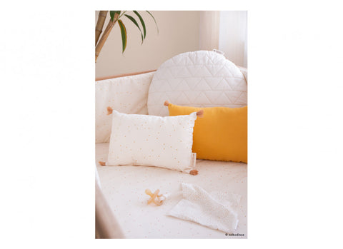 Coussin sublim cushion 20x35 honey sweet dots natural