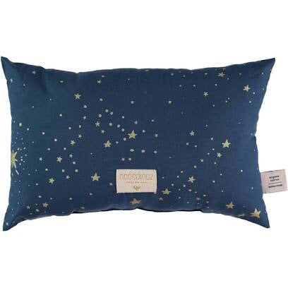 Coussin laurel small cushion 22x35 gold stella/ night blue