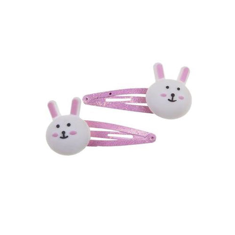 Barrettes lapin rose