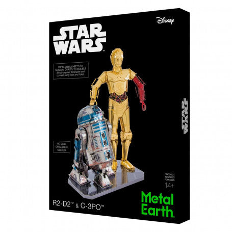 Metal earth Star Wars  R2D2 et C3PO