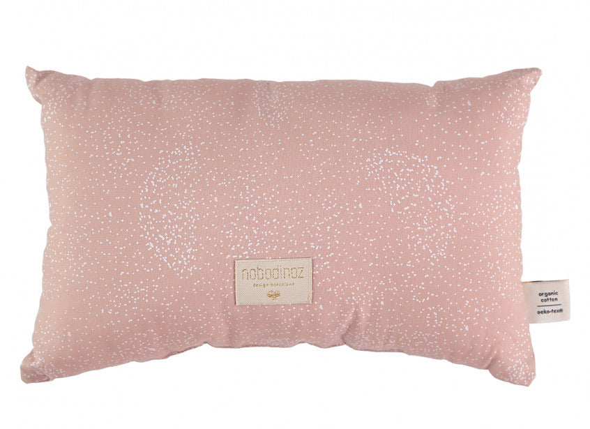 Coussin laurel small cushion 22x35 white bubble/ misty pink