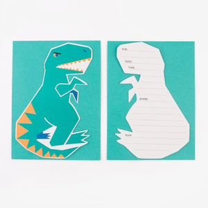 Cartes invitations - dinosaure
