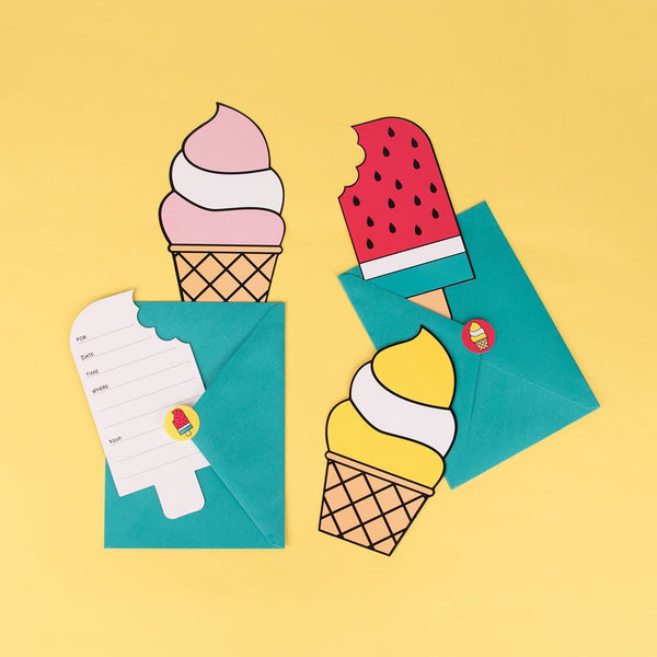 Cartes invitations - glaces