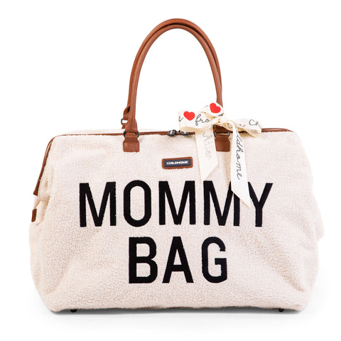 Sac Mommy Bag Big Teddy beige écru