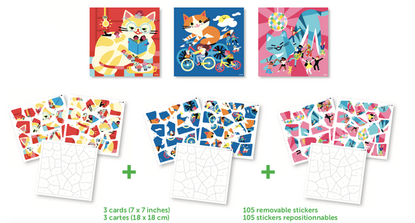 Puzzles & Stickers - Cats