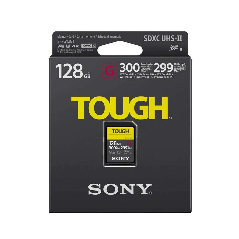 Sony 128GB G-Series Tough SDXC Card UHS-II, 300MB/s