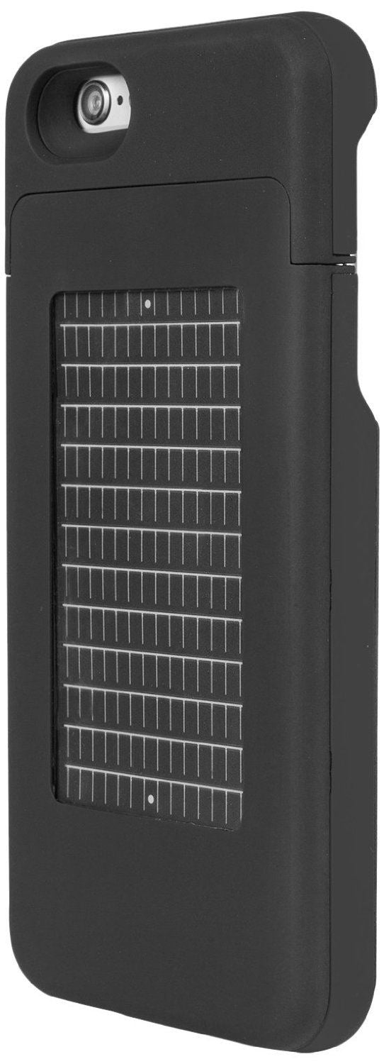 Enerplex Surfr Battery and Solar Case for Iphone 6/6s Black