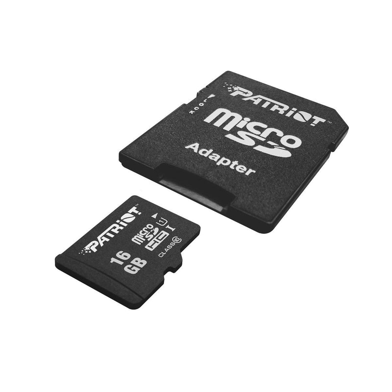 Patriot LX 16GB MicroSDHC Card with SD adapter
