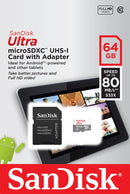 Sandisk 64GB Ultra Micro SDHC Card Tablet Edition With Adapter A1, 100MB/s