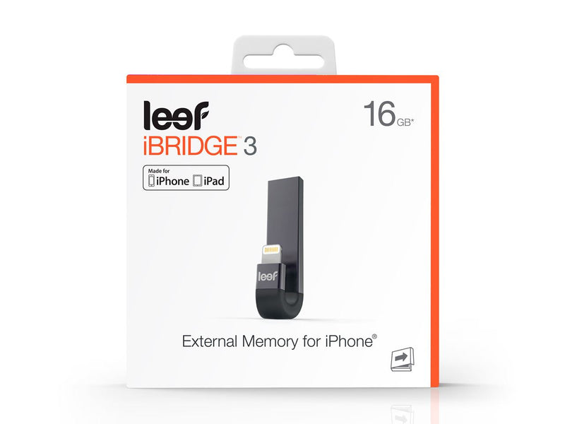 Leef IBridge3 16GB Lightning/ USB3.1 Flash Drive- Black