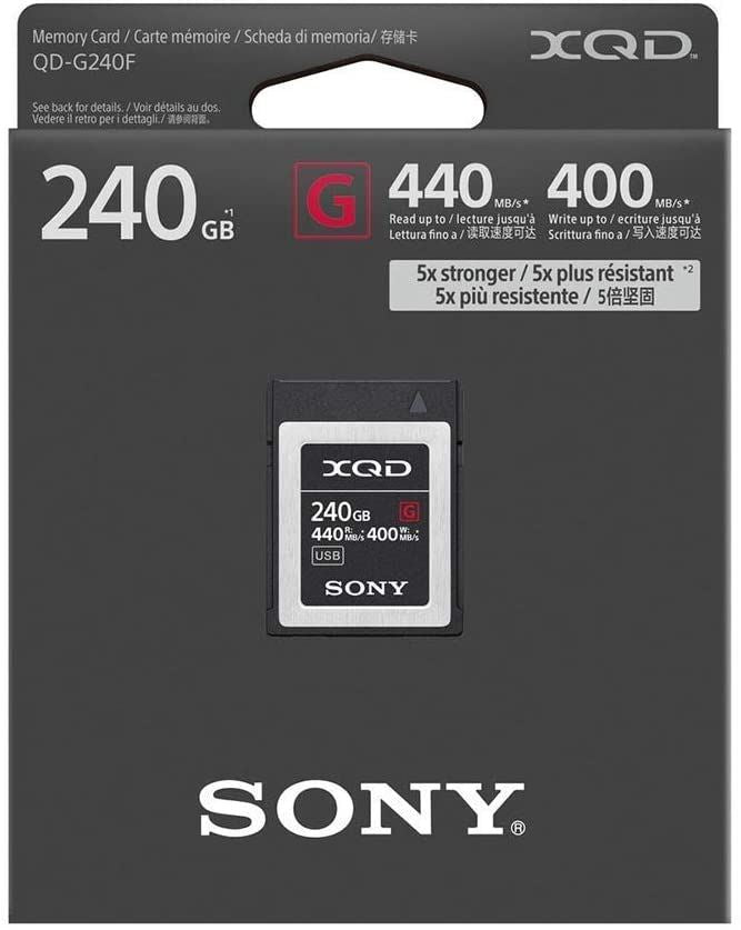 Sony G Series Tough 240GB XQD Card 5X Stronger 440MB/s