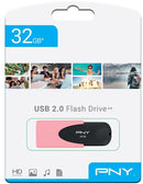 PNY 32GB Attache 4 Pastel Coral USB Flash Drive