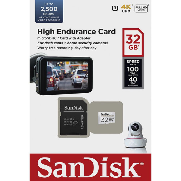 Sandisk 32GB High Endurance Micro SDHC Card, 100MB/s