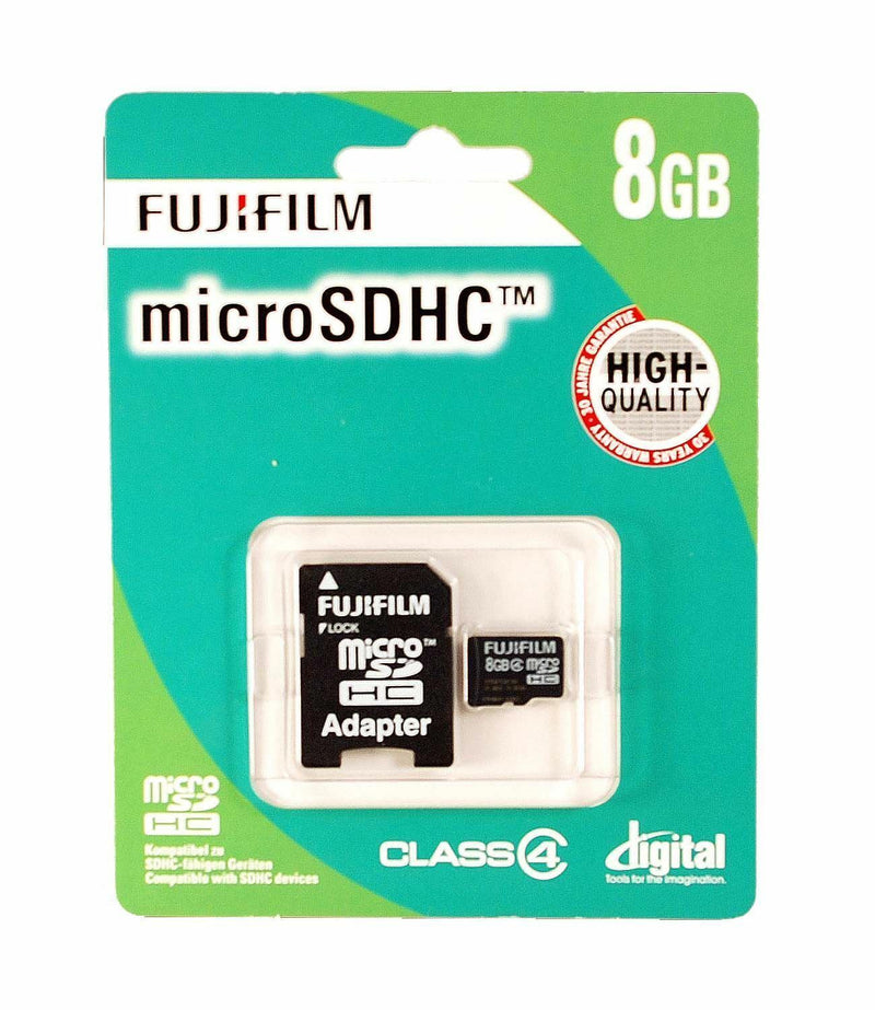 Fuji Film 8GB Micro SDHC Card, Class4 with adapter