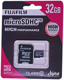 Fuji Film 32GB High Performance Micro SDHC Card, Class 10, with adapter