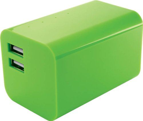 Yell Energy Bar External Powerbank 2 USB port 6600mAh Green