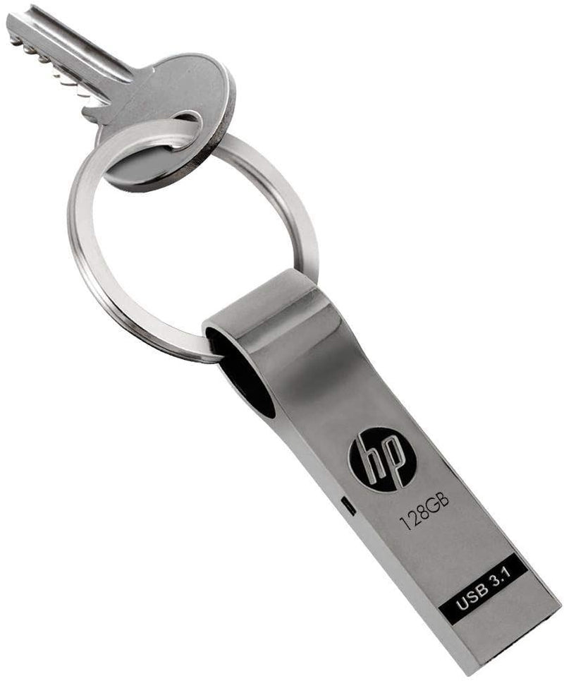 HP 128GB Metal USB3.1 Drive with Key Ring v785w