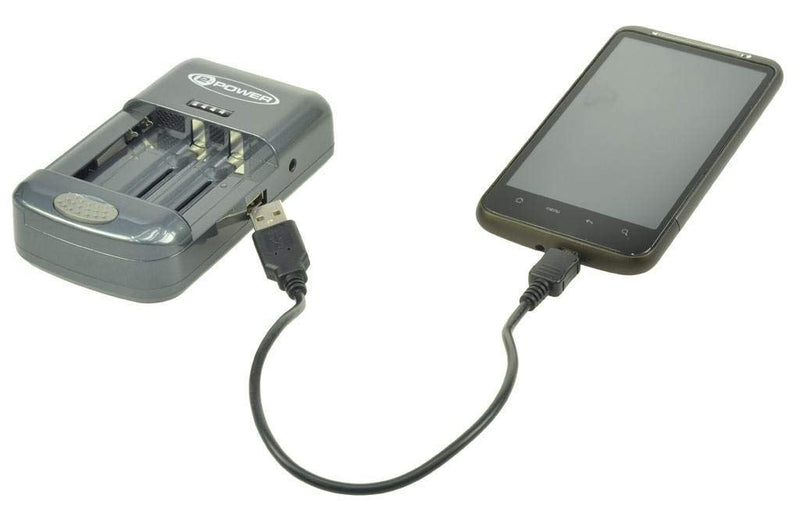 2-Power Universal Battery Charger for Camera, Phones, AA, AAA