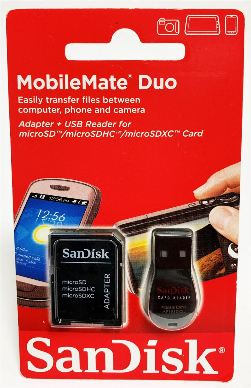 Sandisk Mobile Mate MicroSD card reader and SD adapter