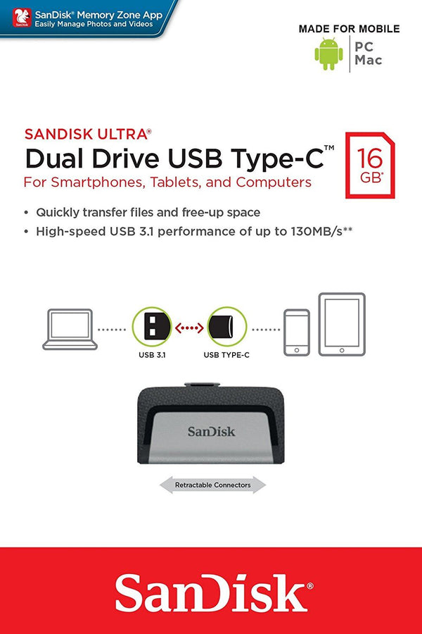 Sandisk Ultra 16GB Dual Drive USB Type-C
