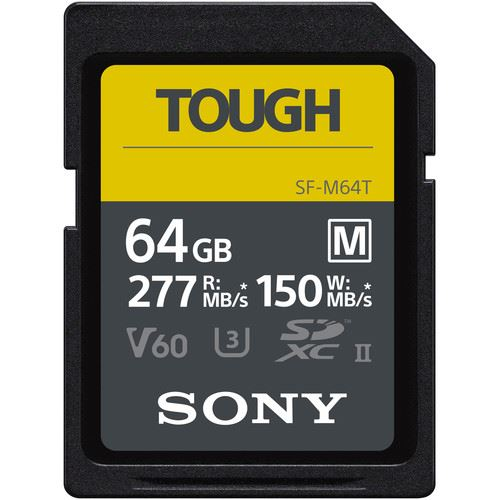 Sony 64GB M-Series Tough SDXC Card UHS-II, 277MB/s