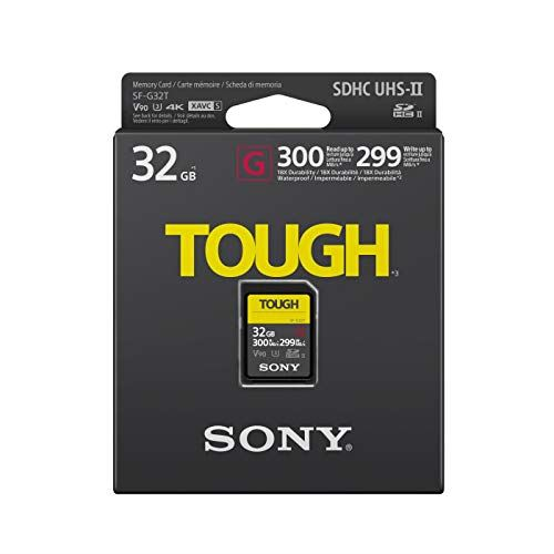 Sony 32GB G-Series Tough SDHC Card UHS-II, 300MB/s