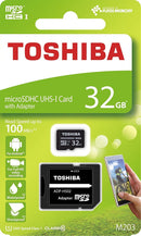 Toshiba Exceria 32GB MicroSDHC Card with Adapter 100MB/s