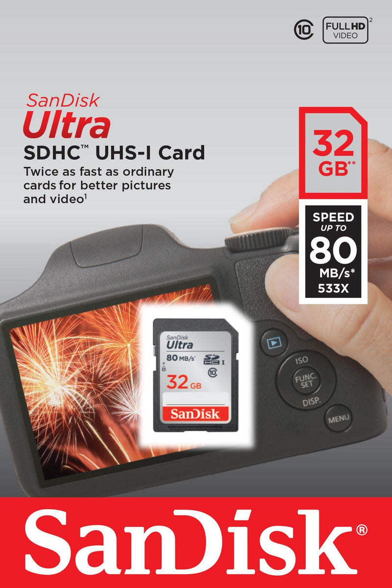 Sandisk 32gb Ultra SDHC card 80mb/s