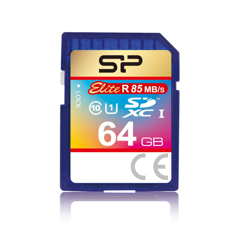 Silicon Power Elite 64GB SDXC Card, 85MB/s