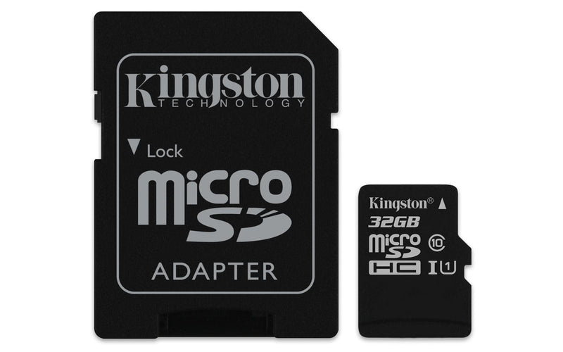 Kingston Canvas Select 32GB MicroSDHC card 80MB/s